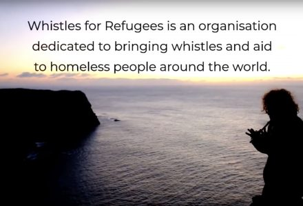 Whistles for Refugees is an organisation dedicated to bringing whistles and aid to homeless people around the world