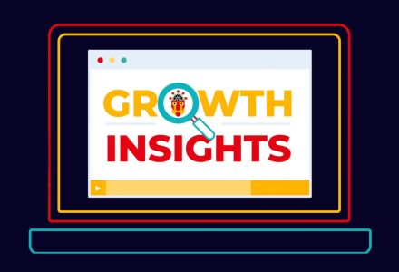 Growth Insights logo on illustrated laptop screen